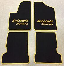 Autoteppich Fußmatten für Fiat Seicento und Sporting schwarz gelb 4tlg. Neuware