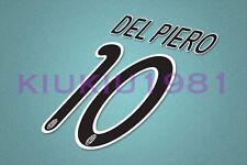 Juventus Del Piero #10 2008-2010 Awaykit Nameset Printing