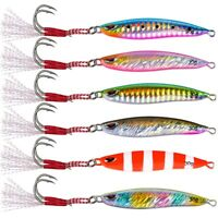 Details about  /6pcs Lead Metal Jigging Lure 30g-40g Spoon Bait Saltwater Jig Fishing Tackle Lot