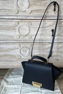 Zac Posen Eartha Iconic Soft Top Handle Black Bag Crossbody Rare New