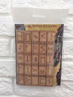 Set mit 25 skandinavischen Runen Скандинавские руны.Scandinavian runes