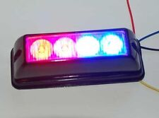 852 Red And Blue LED Emergency Strobe light lightbar flashing R/B