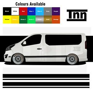 For Renualt Trafic Van Primastar Side Stripe Stickers Decal Vinyl Camper Graphic