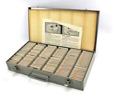 Vintage Brumberger 35mm 150 Slide Metal Case Box - 1970s Holy Land Israel Slides