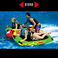 WOW Big Bazooka 1 - 4 Riders Towable Ski Tube Inflatable Biscuit Boat Ride