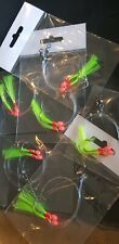 6 X WHITING FLASHER FISHING RIGS  2X SUICIDE HOOKS 1# 20lb Leader, Swivels Lumo