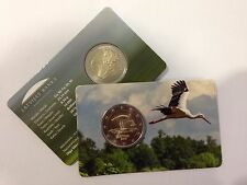 Latvia 2 Euro commemorative blister coin The Stork/ Lettland / Lettonia BIRB BU