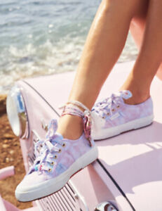NWT:Superga X Loveshackfancy Womens Lace Up Sneaker Sz 6 Cotton Candy MSRP $119!