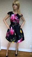 TED BAKER  Citrus Bloom Floral Skater  Dress.  Size 1 (UK 8 -10)