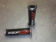 Black Silver Red Yamaha YZF R1 Ariete Harris Grips Carbon Effect Rubber