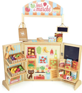 Large Retro Grocery Store by Vilac | Kids Childrens Wooden Kitchen NEW