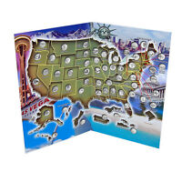 State Quarter Map Book- U.S.A State Quarter Collection Book