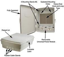 Outdoor Nema4 Weaterproof Enclosure Cabinet Box w/ 240 Vac Power Panel Universal