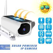 US IR HD Solar Camera 1080P CCTV Security waterproof IP66 Wifi Wireless Outdoor