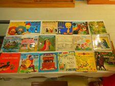 Lot de 7 livres disques pour enfant et 10 disques 45 tours