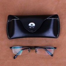 REAL LEATHER GLASSES HARD POUCH SPECTACLES SUNGLASSES BELT LOOP COIN TRAVEL CASE