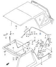 NEW Genuine Suzuki Vitara Soft Top Deck Canvas Roof Parts MAIN TOP BOW FRAME BAR