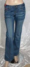 L32 Damen-Bootcut-Jeans mit Stickerei Bundhöhe (en)