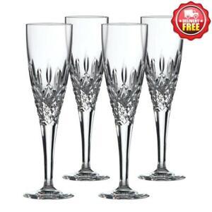 Royal Doulton Highclere Premium Crystal Champagne Flute 150ml   Set Of 4 Glasses
