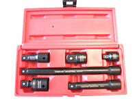 "6pcs 1/2"" Dr. Impact Adapter Reducer Extension Bar & Universal Joint Socket CR-V"