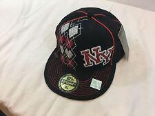 K&B Ethos New York City head wear XL 7 5/8 Fitted Cap/Hat Flat Bill NWT