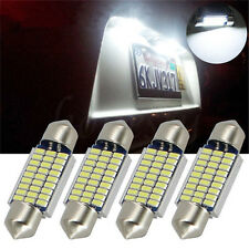 10Pcs White 39MM 12V LED Festoon Bulbs 3014 27 SMD Car Reading Lamp Dome Light