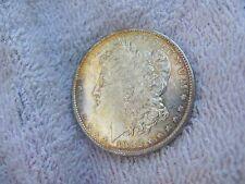 1882-O Morgan Silver Dollar, GEM BU, PL TO NEAR PL OBVERSE/REVERSE-GOLD TONE-#CS