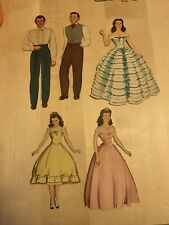 Gone With The Wind Paper Dolls And Outfits, 5 Dolls, 20+ Outfits, Notes