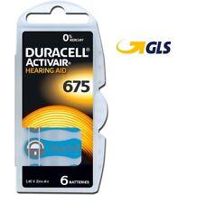 60 pile batterie per protesi acustiche DURACELL mod. 675 blu PR44 corriere