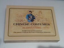Chinese Costumes Playing Cards