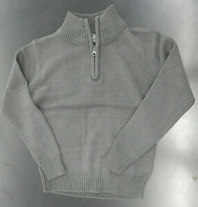 Boys $38 Eddie Bauer Charcoal Turtle Neck Pullover Sizes 4 - 7