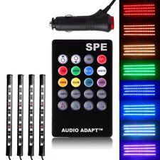 Full Color LED Interior Car Kit Under Dash Footwell Seats Inside Lighting
