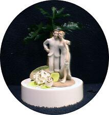 PALM TREE Wedding Cake topper Beach TROPICAL picnic top funny lake beach ocean
