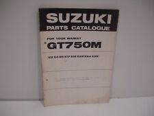 Parts list Suzuki GT750M Janvier 1975  catalogue pieces detachees complement