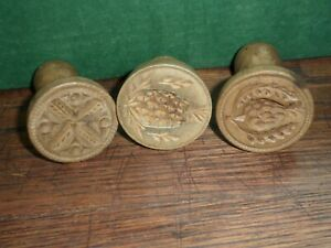 Wooden Butter Presses / Stamps – Qty of 3