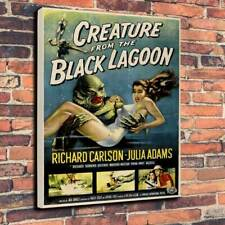 """Creature From The Black Lagoon Printed Box Canvas Picture A1.30""""x20"""" 30mm Deep"""