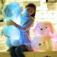 50cm LED Glowing Dog Plush Doll Bolster Colorful Children Toys For Girls Xmas