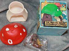 NIB NEW IN BOX 1978 VINTAGE 4.0011 SCHLEICH RED SMALL SMURF MUSHROOM COTTAGE