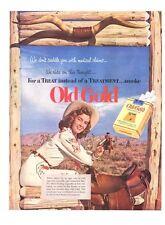1952 Camel Cigarette western cowboy & cowgirl theme PRINT AD