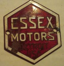 Rare Vintage ESSEX MOTORS Radiator Badge Collection Emblem Ornament Trim Metal