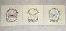 Set of 3 Butterflies Metal Wall Plaques Shabby Chic Pictures