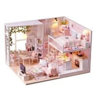 Loft DIY Miniature Dollhouse Kits Green House Wooden Doll House Model Kits