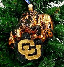 Slavic Treasures Colorado Buffaloes Mascot Blown Glass Ornament 6'