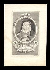 santino incisione 1700 B. MARIA MADDALENA MARTINENGO DA BRESCIA
