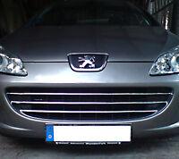 2005Up Peugeot 407 Chrome Front Grill 3Pcs S.STEEL