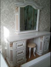 100% Solid Oak Dressing Table in White or Natural colour
