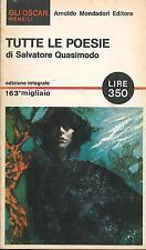 LIBRO - Tutte le poesie, Quasimodo,  Mondadori, 1965