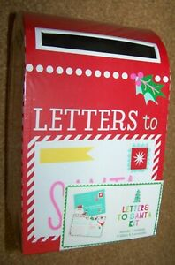Christmas Letters to Santa Claus Kit Mailbox 6 Letters & Envelopes kids Xmas
