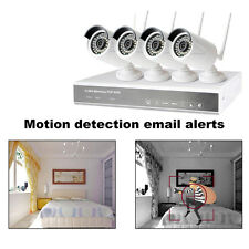 4PCS IP Wifi 4CH 720P CCTV NVR Outdoor Wireless Network Security Camera System Q