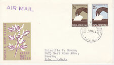 PAPUA NEW GUINEA FIRST DAY COVER 1964 CASTING BALLOT SCOTT #182-183 VOTING #2